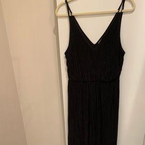 Black pleated jumpsuit